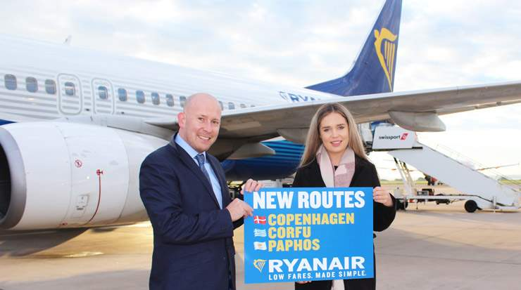 Ryanair launches Paphos, Corfu and Copenhagen