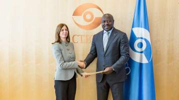 Rafti presented her credentials to Zerbo