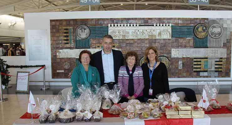 A Christmas charity bazaar took place at Larnaka International Airport