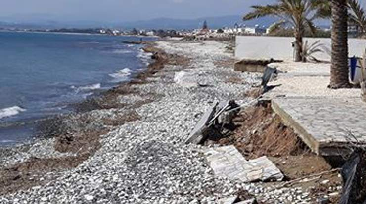 Erosion at Larnaca beaches