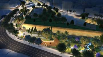 The architect's design of Eleftheria Square once complete