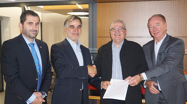CYSEA signed with the two Cyprus seafarers trade unions, SEK and PEO
